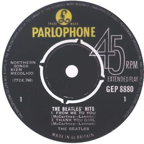 "The Beatles The Beatles' Hits - 1st - EX 7"" vinyl single (7 inch record) UK BTL07TH580313"