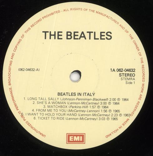 The Beatles The Beatles In Italy vinyl LP album (LP record) Dutch BTLLPTH156695