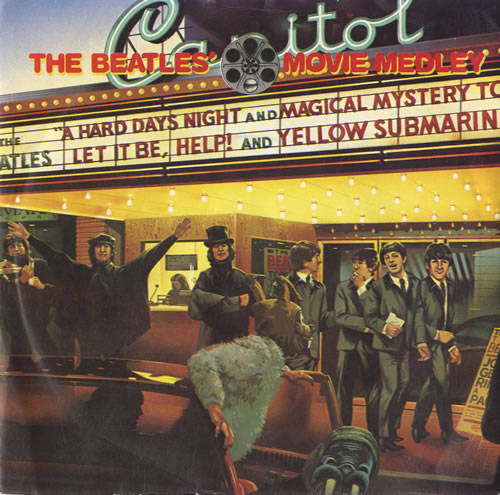 "The Beatles The Beatles' Movie Medley - 4 Prong 7"" vinyl single (7 inch record) UK BTL07TH82296"