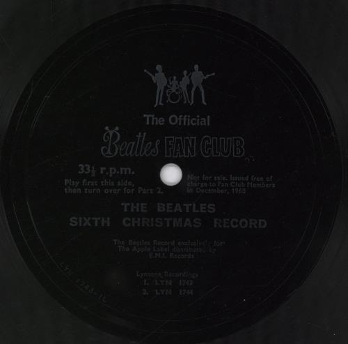 "The Beatles The Beatles Sixth Christmas Record + Insert 7"" vinyl single (7 inch record) UK BTL07TH767003"