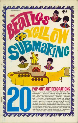 The Beatles The Beatles Yellow Submarine Pop-Out Art Decorations book US BTLBKTH343213