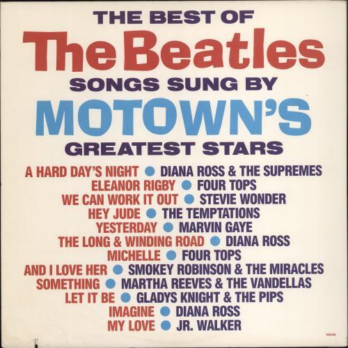 The Beatles The Best Of The Beatles Songs Sung By Motown's Greatest Stars vinyl LP album (LP record) US BTLLPTH755516
