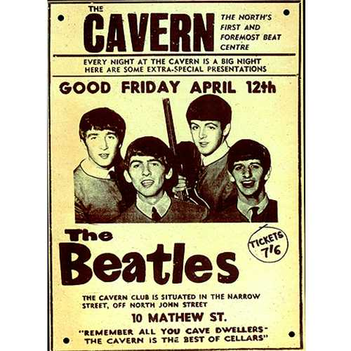The Beatles The Cavern Metal Reproduction Poster Uk