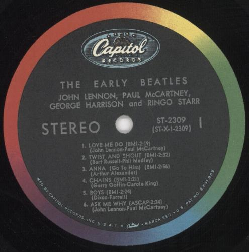 The Beatles The Early Beatles - 1st - EX vinyl LP album (LP record) US BTLLPTH741783
