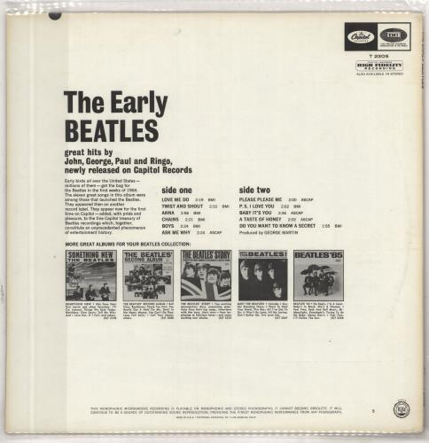 The Beatles The Early Beatles - 1st vinyl LP album (LP record) US BTLLPTH297819
