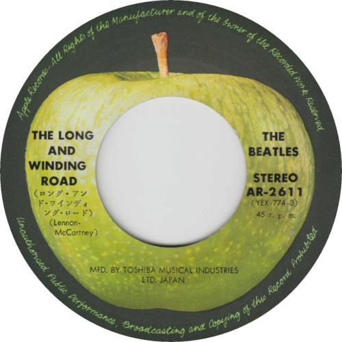 """The Beatles The Long And Winding Road - 1st - EX 7"""" vinyl single (7 inch record) Japanese BTL07TH713355"""