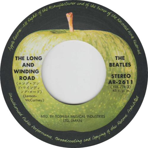 """The Beatles The Long And Winding Road - 4th 7"""" vinyl single (7 inch record) Japanese BTL07TH174081"""