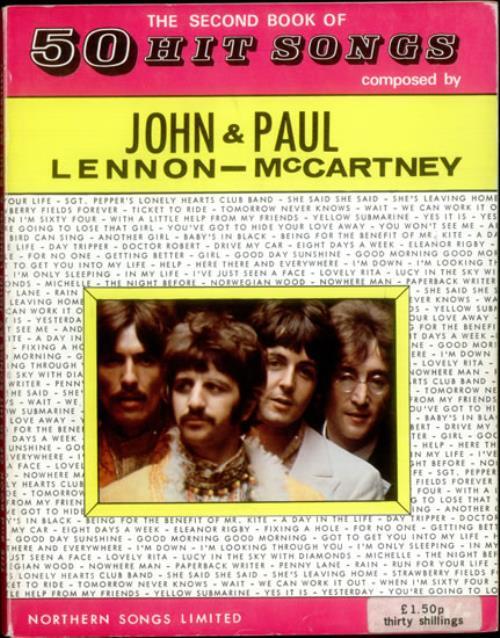 The Beatles The Second Book Of 50 Hit Songs book UK BTLBKTH535378