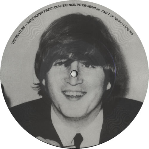 "The Beatles Vancouver Press Conference / Interviews 64 7"" vinyl picture disc 7 inch picture disc single UK BTL7PVA520583"