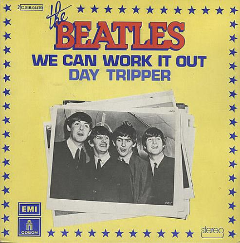 "The Beatles We Can Work It Out - 1976 Issue 7"" vinyl single (7 inch record) French BTL07WE396295"