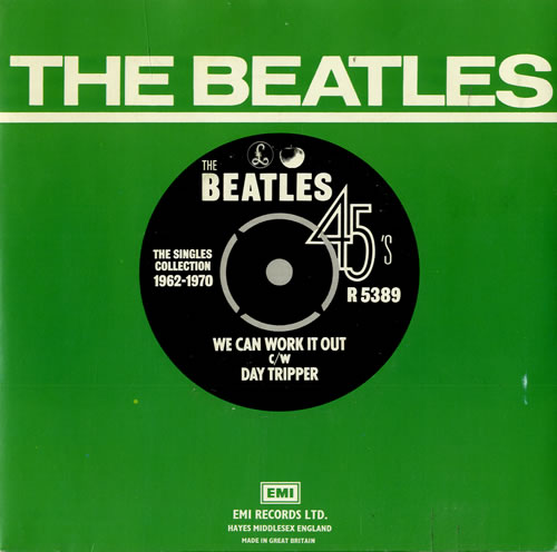 """The Beatles We Can Work It Out - 1976 7"""" vinyl single (7 inch record) UK BTL07WE462203"""