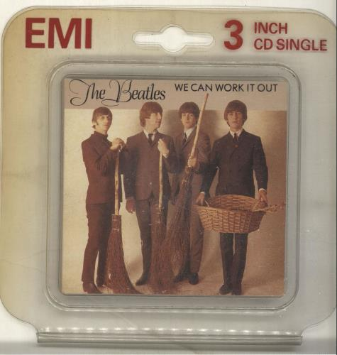 "The Beatles We Can Work It Out 3"" CD single (CD3) UK BTLC3WE84389"