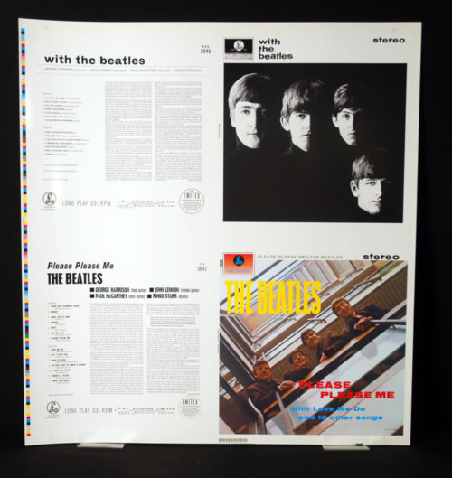 The Beatles With The Beatles / Please Please Me artwork UK BTLARWI601083