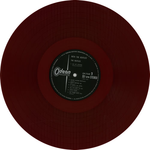 The Beatles With The Beatles - 1st Odeon - Red Vinyl + Obi vinyl LP album (LP record) Japanese BTLLPWI588665
