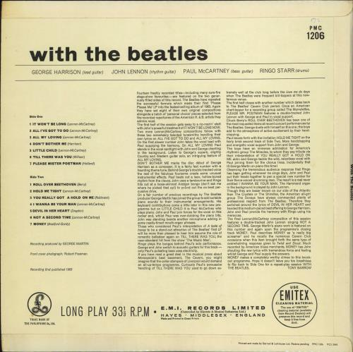 The Beatles With The Beatles - 2nd - WOC vinyl LP album (LP record) UK BTLLPWI707295