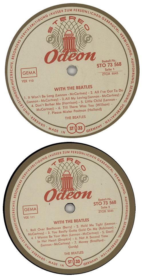 The Beatles With The Beatles - 2nd vinyl LP album (LP record) German BTLLPWI572041