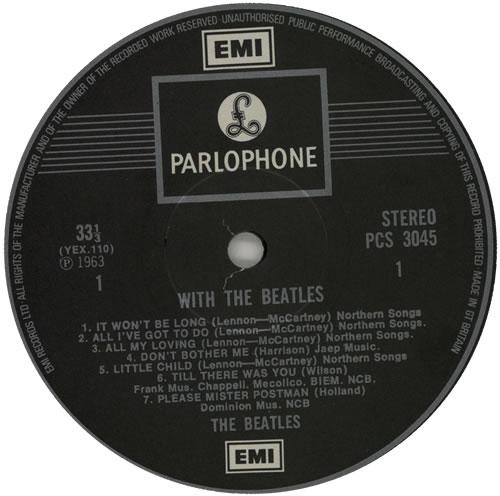 The Beatles With The Beatles - EMI - Fr Lam - EX vinyl LP album (LP record) UK BTLLPWI461725