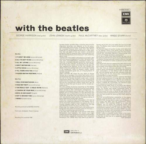The Beatles With The Beatles vinyl LP album (LP record) Italian BTLLPWI768470