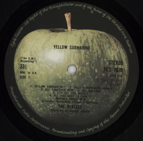 The Beatles Yellow Submarine - 3rd vinyl LP album (LP record) UK BTLLPYE461732