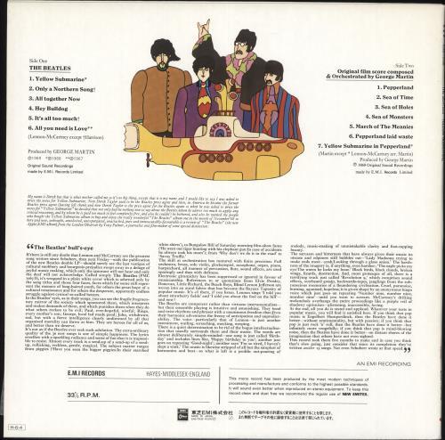 The Beatles Yellow Submarine - Red Vinyl vinyl LP album (LP record) Japanese BTLLPYE717197