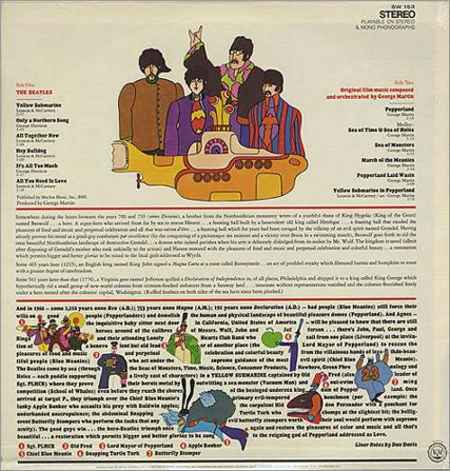 The Beatles Yellow Submarine - Sealed vinyl LP album (LP record) US BTLLPYE286175