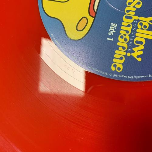 The Beatles Yellow Submarine Songtrack - Red Vinyl vinyl LP album (LP record) UK BTLLPYE241332
