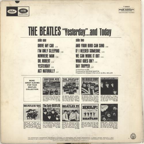 The Beatles Yesterday And Today - 3rd State - Mono vinyl LP album (LP record) US BTLLPYE579237