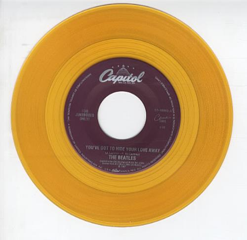 The Beatles You've Got To Hide Your Love Away - Gold Vinyl