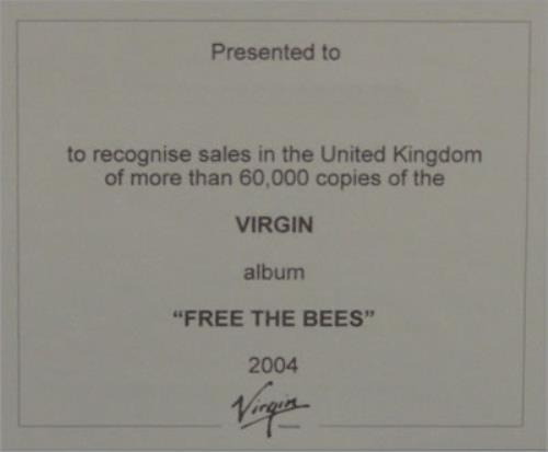 The Bees (00s) Free The Bees in-house award disc UK BESAIFR488211