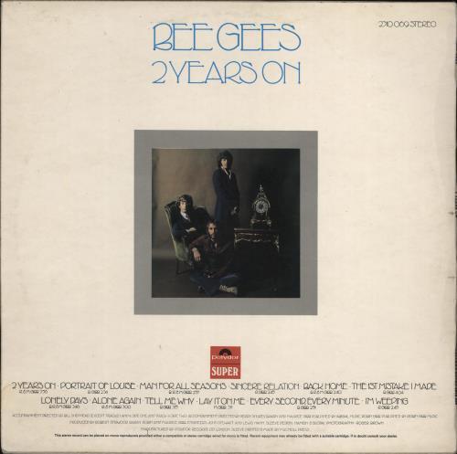 The Bee Gees 2 Years On - VG vinyl LP album (LP record) UK BGELPYE772187