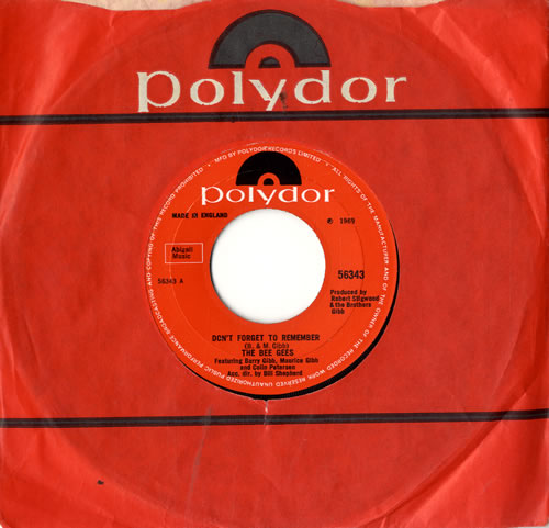"""The Bee Gees Don't Forget To Remember - Wide 7"""" vinyl single (7 inch record) UK BGE07DO576020"""