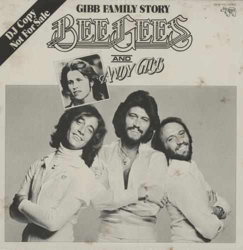 The Bee Gees Gibb Family Story vinyl LP album (LP record) Japanese BGELPGI506974
