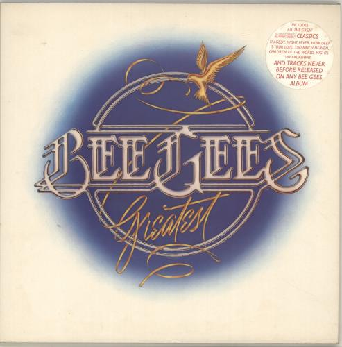 The Bee Gees Greatest - stickered p/s 2-LP vinyl record set (Double Album) UK BGE2LGR637623