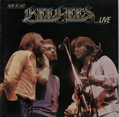 The Bee Gees Here At Last ... Bee Gees Live 2-LP vinyl record set (Double Album) UK BGE2LHE303844