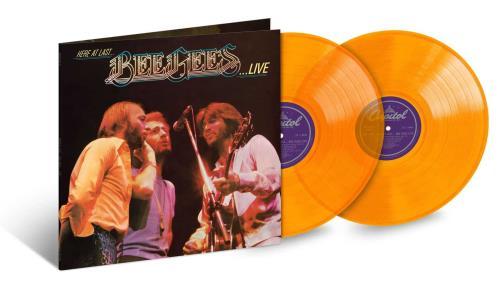 The Bee Gees Here At Last... Bee Gees Live - Orange Vinyl 2-LP vinyl record set (Double Album) US BGE2LHE749052
