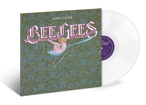 The Bee Gees Main Course - White Vinyl vinyl LP album (LP record) US BGELPMA749049