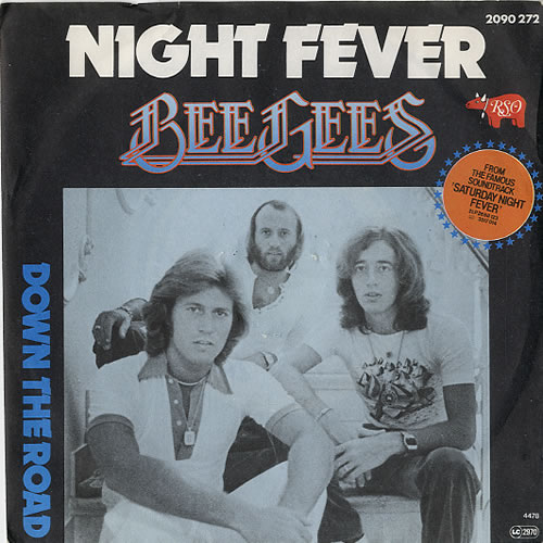 """The Bee Gees Night Fever 7"""" vinyl single (7 inch record) Belgian BGE07NI613712"""