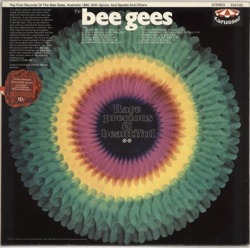The Bee Gees Rare, Precious & Beautiful vinyl LP album (LP record) UK BGELPRA547692