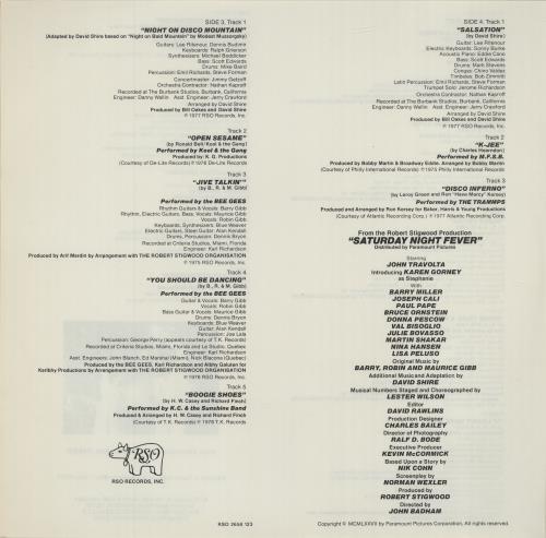 The Bee Gees Saturday Night Fever - Stickered + Insert 2-LP vinyl record set (Double Album) UK BGE2LSA522306
