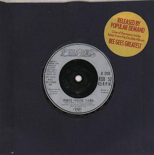 "The Bee Gees Spirits (Having Flown) 7"" vinyl single (7 inch record) UK BGE07SP636889"