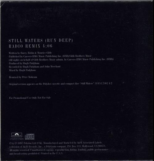 "The Bee Gees Still Waters (run Deep) CD single (CD5 / 5"") US BGEC5ST98983"