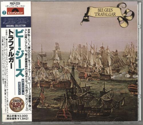 The Bee Gees Trafalgar CD album (CDLP) Japanese BGECDTR746568