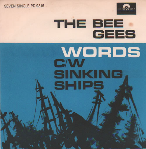 "The Bee Gees Words 7"" vinyl single (7 inch record) South African BGE07WO634526"