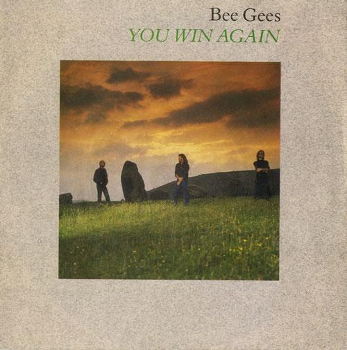 "The Bee Gees You Win Again - Inj - P/S 7"" vinyl single (7 inch record) UK BGE07YO561080"
