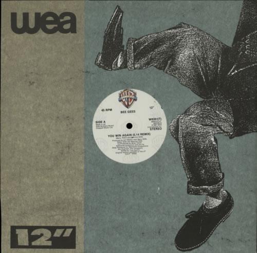 "The Bee Gees You Win Again 12"" vinyl single (12 inch record / Maxi-single) UK BGE12YO596466"