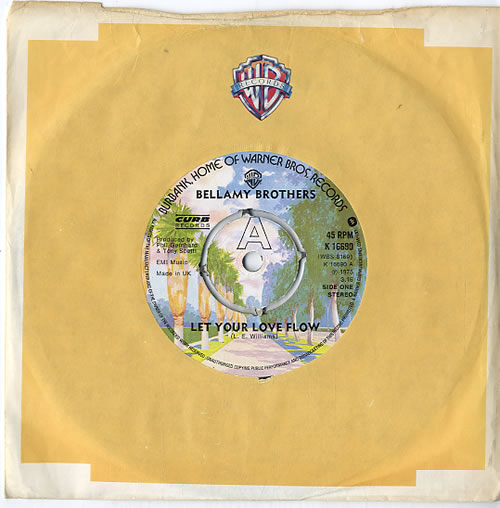 "The Bellamy Brothers Let Your Love Flow - 4 Prong 7"" vinyl single (7 inch record) UK BMR07LE629952"