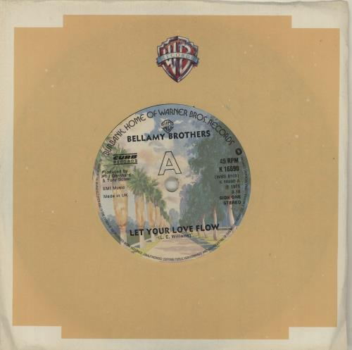 "The Bellamy Brothers Let Your Love Flow - Solid 7"" vinyl single (7 inch record) UK BMR07LE680503"