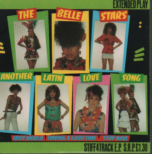 """The Belle Stars Another Latin Love Song 7"""" vinyl single (7 inch record) UK BST07AN646404"""