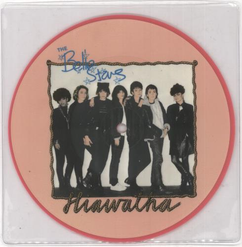 """The Belle Stars Hiawatha + Press sheet 7"""" vinyl picture disc 7 inch picture disc single UK BST7PHI730547"""