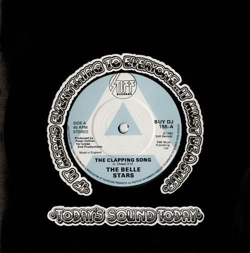 """The Belle Stars The Clapping Song 7"""" vinyl single (7 inch record) UK BST07TH588138"""